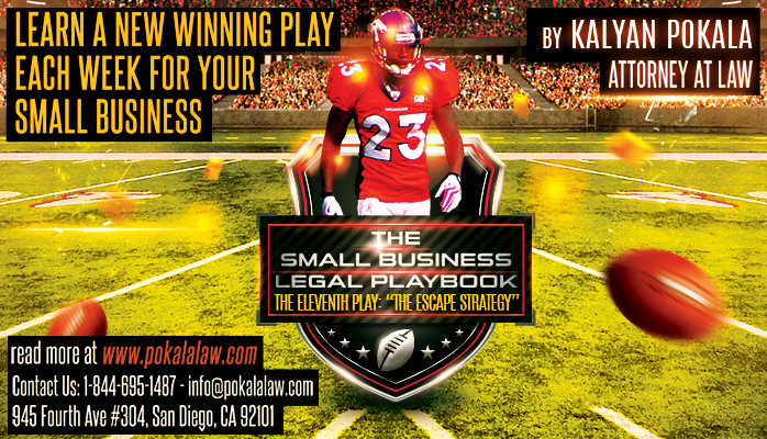 pokala law small business legal playbook the escape strategy